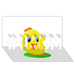 Cute Chicken  #1 Mom 3d Greeting Cards (8x4)