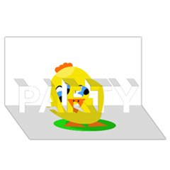 Cute chicken  PARTY 3D Greeting Card (8x4)