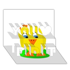Cute chicken  You Did It 3D Greeting Card (7x5)