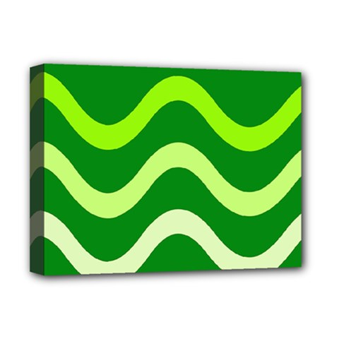 Green waves Deluxe Canvas 16  x 12