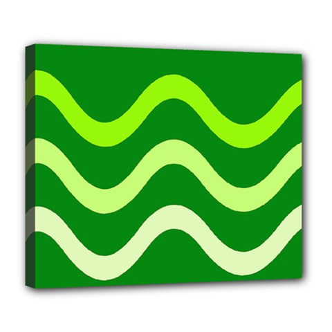 Green waves Deluxe Canvas 24  x 20