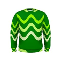 Green waves Kids  Sweatshirt
