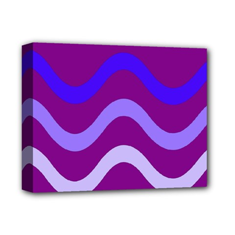 Purple Waves Deluxe Canvas 14  x 11