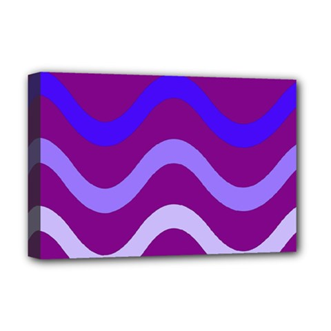 Purple Waves Deluxe Canvas 18  x 12