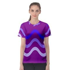 Purple Waves Women s Sport Mesh Tee