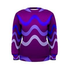 Purple Waves Women s Sweatshirt