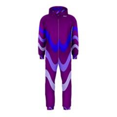 Purple Waves Hooded Jumpsuit (Kids)