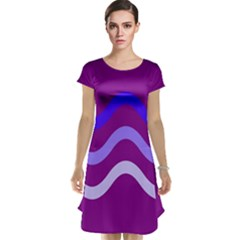 Purple Waves Cap Sleeve Nightdress