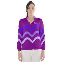 Purple Waves Wind Breaker (women)