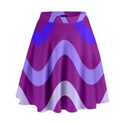 Purple Waves High Waist Skirt