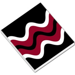 Decorative waves Small Memo Pads