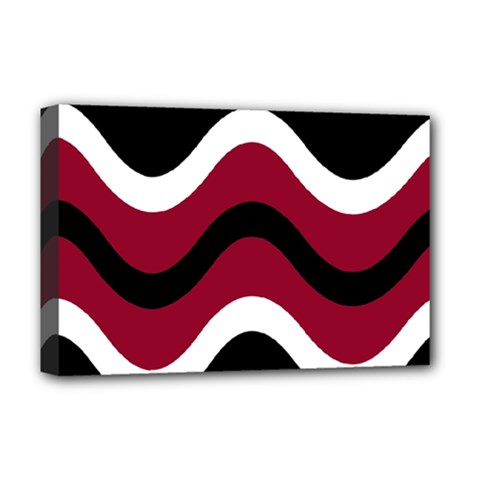 Decorative waves Deluxe Canvas 18  x 12