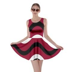 Decorative waves Skater Dress