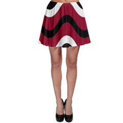Decorative waves Skater Skirt