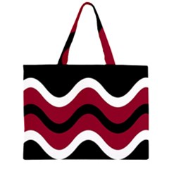 Decorative waves Zipper Large Tote Bag