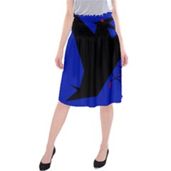 Night Birds  Midi Beach Skirt