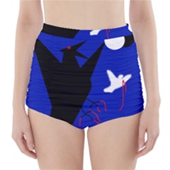 Night birds  High-Waisted Bikini Bottoms