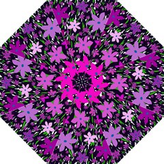 Purple Fowers Folding Umbrellas