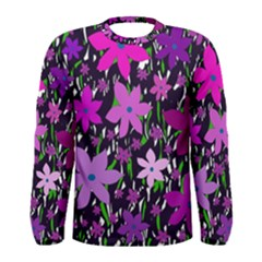 Purple Fowers Men s Long Sleeve Tee