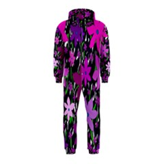 Purple Fowers Hooded Jumpsuit (Kids)
