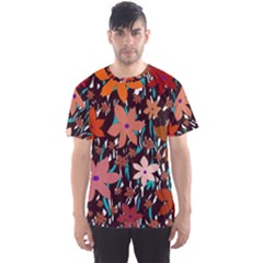Orange flowers  Men s Sport Mesh Tee