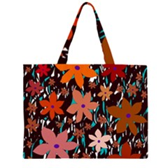 Orange flowers  Large Tote Bag