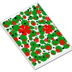 Red and green Christmas design  Large Memo Pads