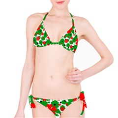 Red and green Christmas design  Bikini Set