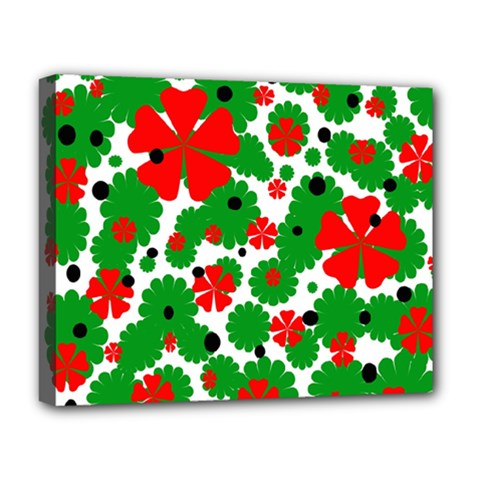 Red and green Christmas design  Deluxe Canvas 20  x 16