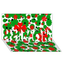 Red and green Christmas design  #1 MOM 3D Greeting Cards (8x4)