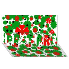 Red and green Christmas design  BEST BRO 3D Greeting Card (8x4)