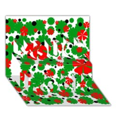 Red and green Christmas design  You Rock 3D Greeting Card (7x5)