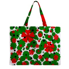 Red and green Christmas design  Mini Tote Bag