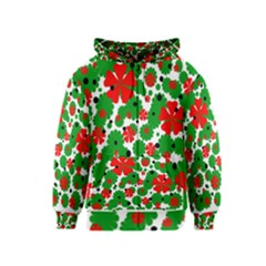 Red and green Christmas design  Kids  Zipper Hoodie