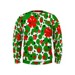 Red and green Christmas design  Kids  Sweatshirt
