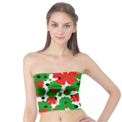 Red and green Christmas design  Tube Top