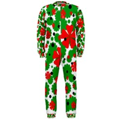 Red and green Christmas design  OnePiece Jumpsuit (Men)