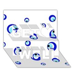 Mediterranean blue eyes Get Well 3D Greeting Card (7x5)