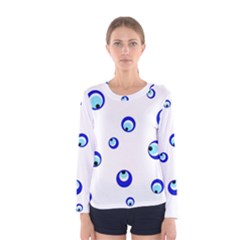 Mediterranean blue eyes Women s Long Sleeve Tee