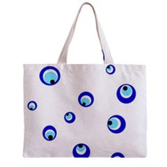 Mediterranean blue eyes Zipper Mini Tote Bag