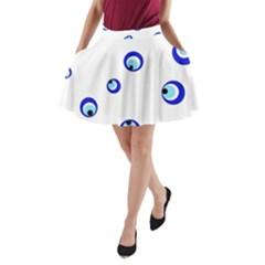 Mediterranean blue eyes A-Line Pocket Skirt