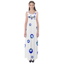 Mediterranean blue eyes Empire Waist Maxi Dress
