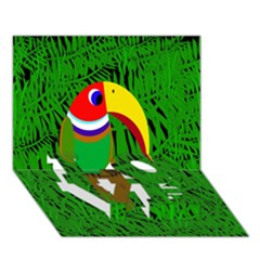Toucan LOVE Bottom 3D Greeting Card (7x5)