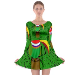 Toucan Long Sleeve Skater Dress