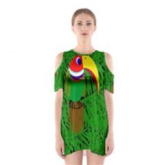 Toucan Cutout Shoulder Dress