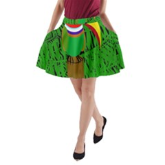 Toucan A-Line Pocket Skirt