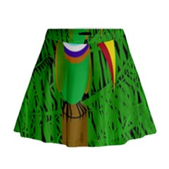Toucan Mini Flare Skirt