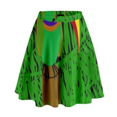 Toucan High Waist Skirt