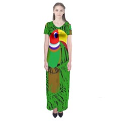 Toucan Short Sleeve Maxi Dress