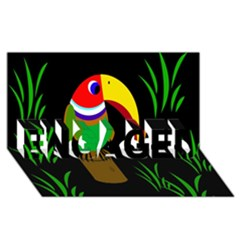 Toucan ENGAGED 3D Greeting Card (8x4)